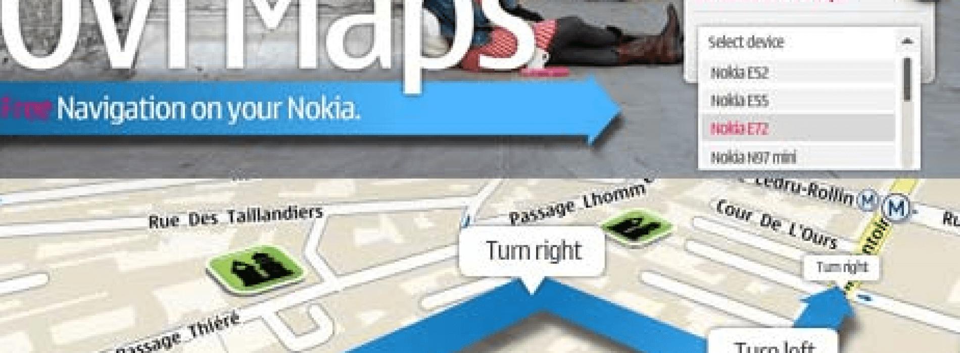 Nokia regala OVI Maps