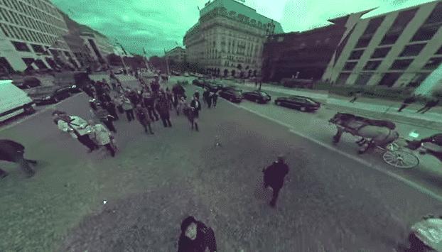 Captura de cámara panorámica