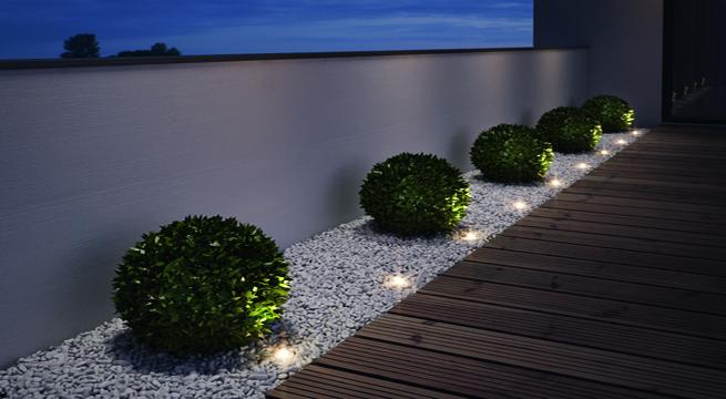 luminación Jardín