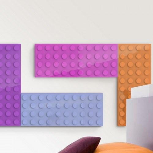 Brick, radiador con formas de Lego