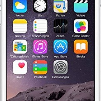 Apple iPhone 6 – Smartphone libre iOS (pantalla 4.7″, cámara 8 Mp, 16 GB, Dual-Core 1.4 GHz, 1 GB RAM), plata