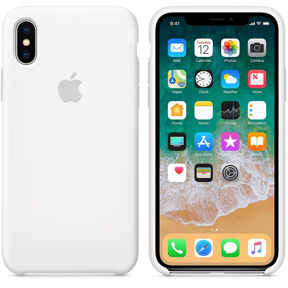 iPhone X funda blanca