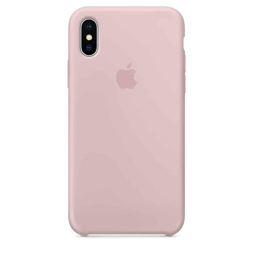 iPhone X funda rosa