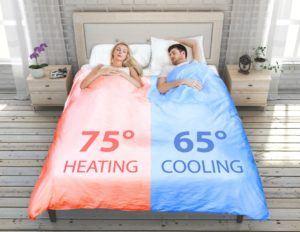 Colcha temperatura independiente