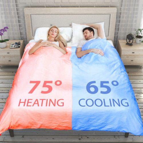 La colcha que mantiene dos temperaturas independientes