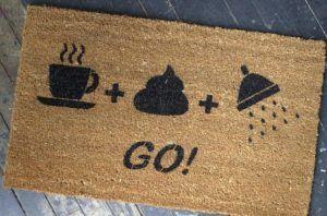 Café, caca y ducha