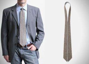 Al fin llegó la corbata con cremallera 1