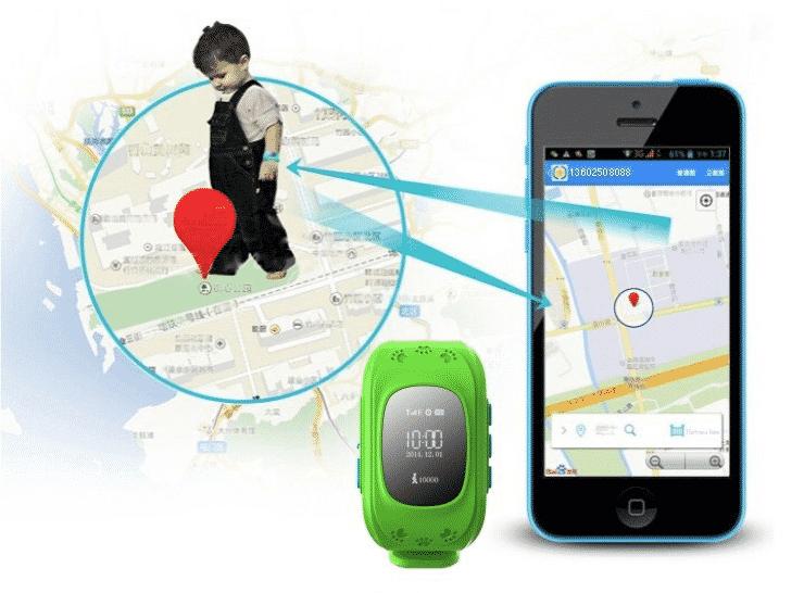 Localizador en mapa GPS niños