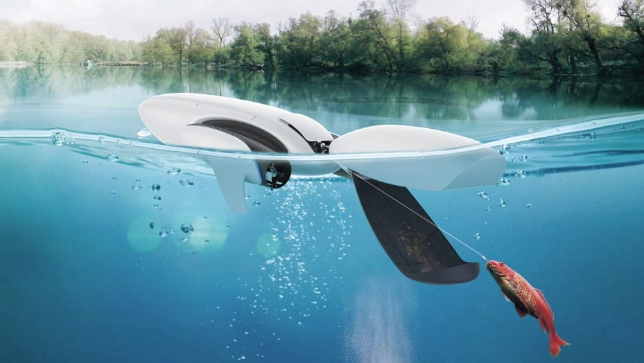 Pesca dron acuático