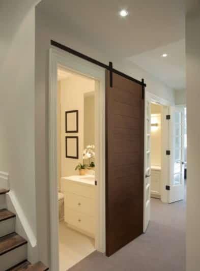 Puerta corredera cuarto de baño