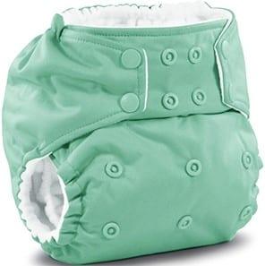 Pañal de tela verde