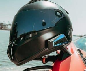 Lexin B4FM en casco