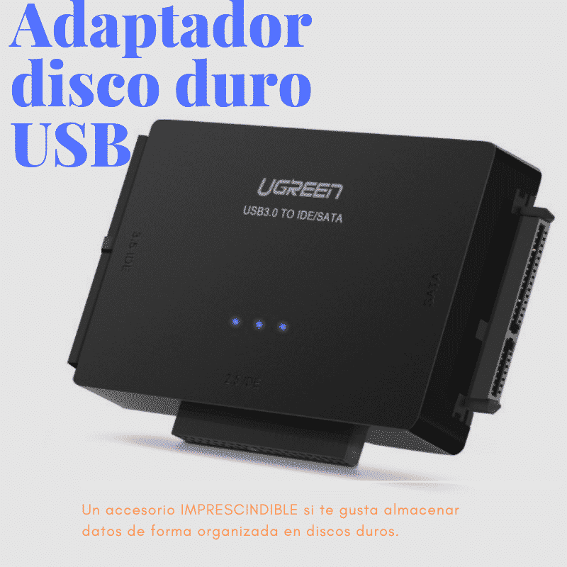 Adaptador disco duro USB
