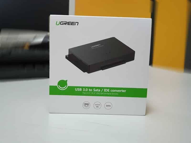 Caja Adaptador disco duro a USB Evergreen