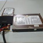 Disco conectado a adaptador disco duro a USB