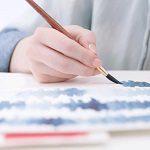 Pintando con pincel y acuarelas