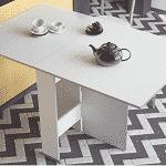 Mesa de cocina swing con alas abatibles montada