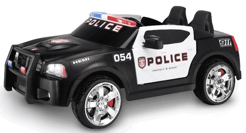 Coche de policia eléctrico para niños