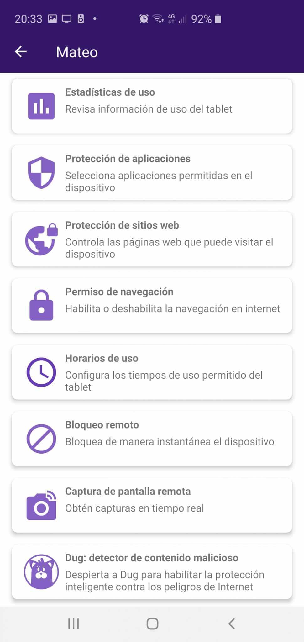 Aplicación Tablet Soymomo