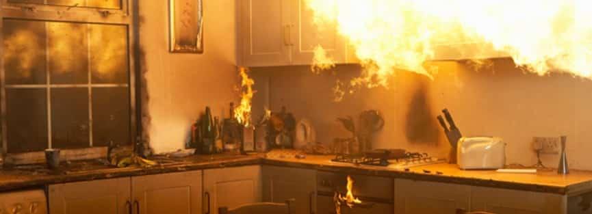 Incendio en cocina