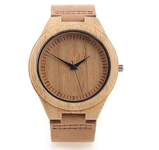 Reloj de madera Yowao